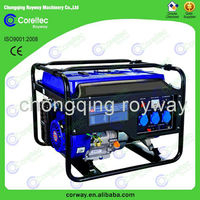 Latest style air cooled single cylinder 4 stroke recoil/electric start 4 stroke 220v gasoline generator