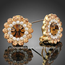 Wholesale 2012 with cz silver stud fashion 18k gold earrings