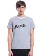 Men's wholesale print round neck cotton short sleeve t shirt custom men's t shirt