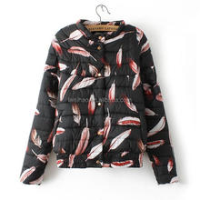 womens printted winter quilted jackets for ladies 2016 new