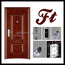 china new model best price walnut color three panels american steel doors high quality steel security doors