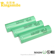 Samsung 3.6V 2500MAH 18650 25R high drain 20A rechargeable li ion battery 1865
