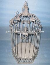 Shabby chic wrought iron bird cage materials