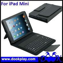 Bluetooth wireless keyboard leather case For iPad mini