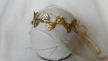Gold & Silver Greek Goddess PROM Hair Piece Silver Leaves Halo Grecian Headband