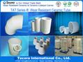 Resistente ao desgaste de cerâmica de alumina virolas/tubos/manga/para bomba de água