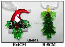 hand made arts lampworking glass christmas tree