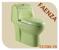 One Piece Toilet In Color Fruit Green