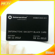 Hot sell !!Top quality credit card black metal business cards