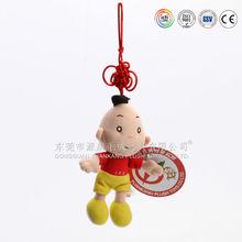 Cheap Custom Mini Boy Plush keychain