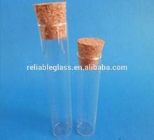 Médica corcho tubo de vidrio para tablet