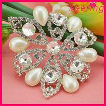 Wholesale beautiful design diamante and pearl embellishment WRE-093