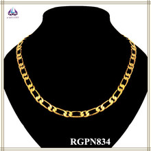 China Popular New Design Gold Long Chain Rope Jewelry Necklace Wholesale For Men