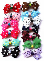 Polk Dot Ribbon Bow Toddler Hair Clips Wholesale Hair Bows Hair Accessories Wholesale