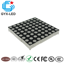 high quality red and green color 8*8 dots 2.54mm pitch LED dot matrix display