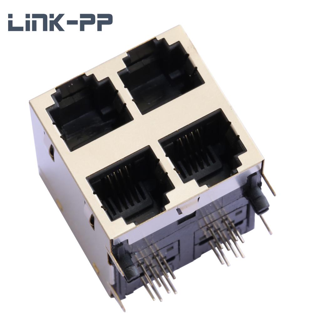Porta 2x2 6 Conector Fêmea Pin 6P4C RJ11 Conversor