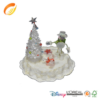 Led Fiber optic Resin Christmas Tree with Music for Christmas decoration