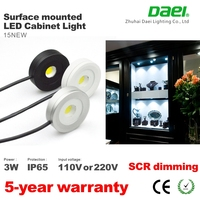 Ra> 80 dimmable 110v 120v ceiling led puck light ip65 waterproof surface mount under cabinet light