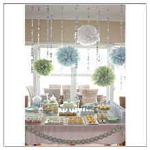 Tissue Paper Pom Poms Wedding Party Baby Shower Decoration with low price