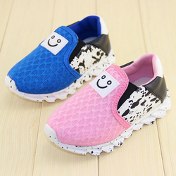 TSW4018 Wholesale child sports shoes breathable fashion korean slip on kids running shoes