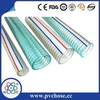 PVC Steel Wire Reinforced Flexible Sewer Hose For Oil And Gas
