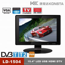 Professional televisions MKV/MOV/3GP 1080P Support 16 inch tft color monitor/tv
