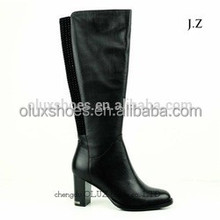 OB63 military leather flying hunter wellington plus size winter boots