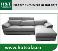 Modern L shape fabric sofa