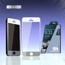 cool design 0.3mm silver tempered glass lcd screen protector film for iPhone 5s