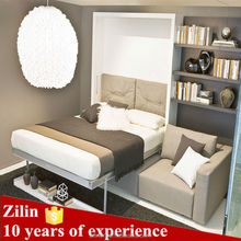 High quality folding wall bed,hidden wall bed murphy bed with sofa,space saving furniture
