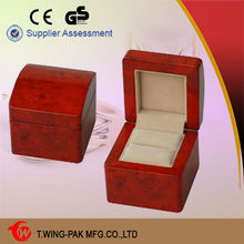 Factory price wooden jewelry box gift, luxury jewelry box miniature