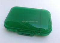 PS square shape plastic clear glitter cosmetic case