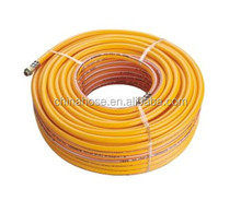 Cixi Jinguan Supply ISO9001-2008 Standard High Pressure Chemical Resistant Cheap Yellow Color PVC Braided Spray Air Hose Pipe