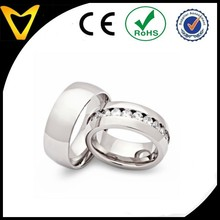 Classical men women wedding couple rings for sale, Channel Setting CZ Couple Rings