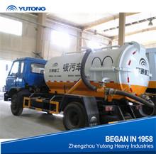 Nova 8m3 vácuo caminhão de sucção de esgoto bomba de vácuo de sucção fecal caminhão