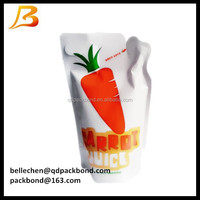 2015 new product stand up drink pouch with straw juice pouch