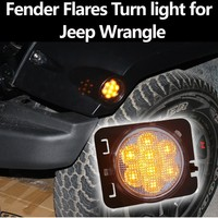New products!Silvery Fender Flares LED Turn Light for Jeep Wrangle