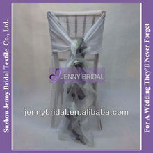 C006G fancy ruffled chair cover wedding wholesale