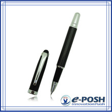 Touch screen style carbon fiber material advertising hotel gift stylus fountain pen
