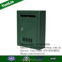 yl0125 Supply plastic small wall mount residential letterboxes