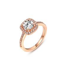 Brand Luxury Jewelry Women 2015 Ring Crystal 18K Rose Gold Ring Wedding Ring