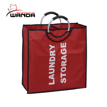 Two Aluminum Handle Light Polyester Laundry Bags