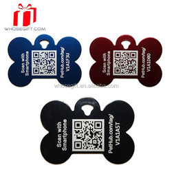 Sublimation Bone Shaped Pet Id Tags Wholesale For Small Animals Cats Dogs With Qr Code