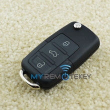 Remote flip Key HU66 3button for VW 434Mhz 1J0959753N remote key