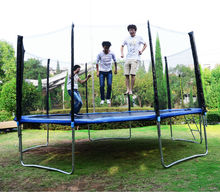 Big Trampoline with basketball hoops