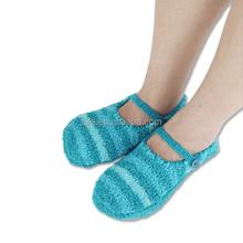 factory price indoor hand made soft ladies cheap slipper sock,anti-slip socks