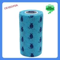15cmx4.5m Patterned Cotton Waterproof Veterinary Cohesive Bandage