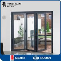 ROGENILAN 75# fancy customized sliding exterior diy frameless glass folding door
