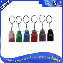 Factory wholesale custom metal bottle shaped keychain/all types of keychains