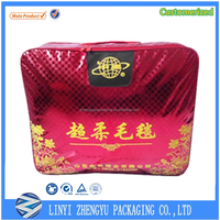 Baby quilt packing zipper Plastic Material and Accept Custom storage bag